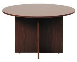 Boss Office Products N127-M 42 in Round Table in Mahogany