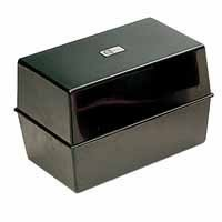 Manchester Stationery Premium Quality Black Index Card Box 152 x 102mm by Manchester Stationery