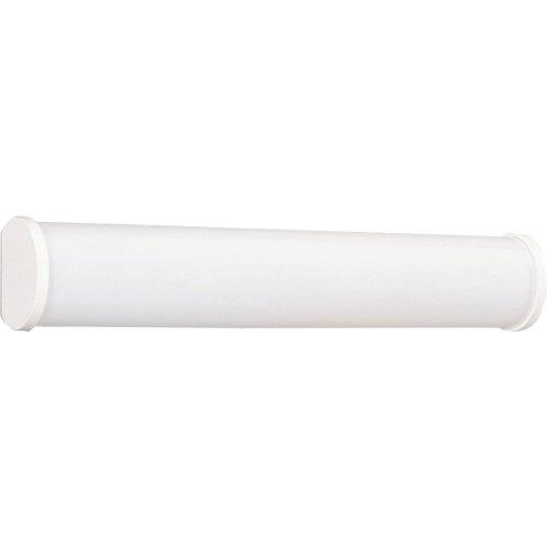 Fluorescent F17t8 Light Fixture - Progress Lighting P7094-30EB 2-Light Slim Profile Fluorescent Bathroom Light, White