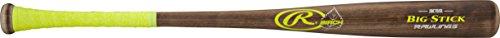 Big Wood Rawlings Pro Stick (Rawlings  Big Stick Joe Mauer Flame Treated Birch Wood Bat, Brown, 32