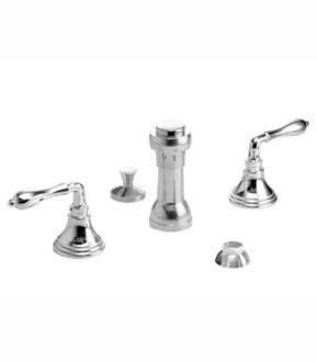 - Jado 892/328/144 Classic/Victorian/Colonial 3-Hole Bidet Set with Straight Lever Handles, Brushed Nickel