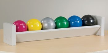 CLINTON EXERCISE BALLS AND ACCESSORIES Single level ball rack w/6 s.g.balls Item# 8188 by Clinton Kangoo