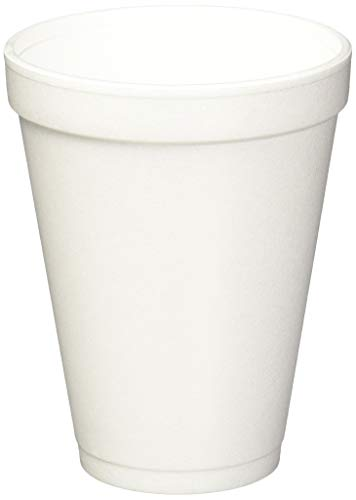 Drink 12J12 Foam Cups, 12oz, 25/Bag, 40 Bags/Carton -