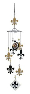 Sunset Vista Fleur De Lis Wind Chime, 24-Inch Long