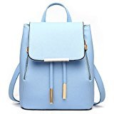 Fashion Bag Girls PU Ladies Women Shoulder blue Backpack Travel bag Rucksack Leather Uw711T