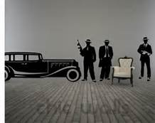 Wall Art Vinyl Sticker Decal Mural Decor Retro Poster Mafia Guy Car #1022