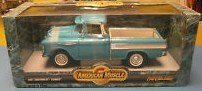 #7854 Ertl American Muscle 1957 Chevrolet Cameo Pick up,Turquoise 1/18 Scale Diecast by ERTL