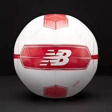 New Balance Furon Dispatch Soccer Ball Size 4, White/Red