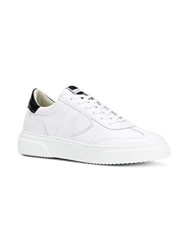 Model Blanc Baluv008 Baskets Philippe Cuir Homme OqtSwqxdp