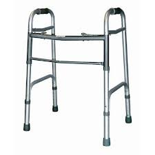 - Folding Walker Adjustable Height Sunmark® Anodized Aluminum Tubing Frame, Steel Cross Brace 300 Lbs.
