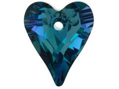Set of 2 Swarovski 6240 Wild Heart Pendant in Aquamarine Vitrail ()