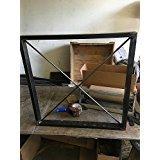 16'' Tall x 15'' Top x 12'' Base Rectangular 2'' x 1'' Steel Tubing, Powder Coated Matte Black, Set of 2 by DIY Metal Legs
