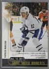 (Dec. 12, 2017) - Patrick Marleau Notches His 1100th Point Against the Flyers, Moving Him Up to 60th All-Time in Points (Hockey Card) 2017-18 Upper Deck Game Dated Moments - 1st Period #24
