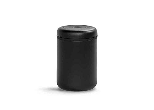 Fellow Atmos Vacuum Canister for Coffee & Food Storage, Matte Black, 1.2 liter, Integrated Vacuum Pump, Airtight Seal