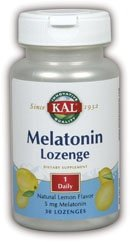 KAL 5 Mg Melatonin, Lemon, 30 Count