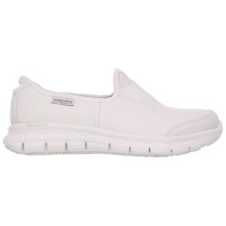 Skechers Women's Work Relaxed Fit Sure Track,White,US 7 M by Skechers