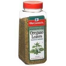 McCormick Mediterranean Style Oregano Leaves - 5 oz. container, 6 per case