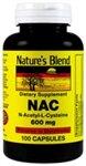 Nature's Blend NAC (N-Acetyl-L-Cysteine) 600 mg 100 Capsules