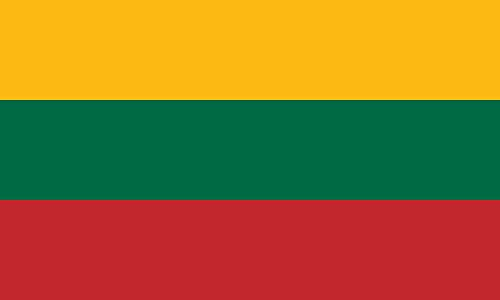 Lithuania Flag from SoCal Flags 3x5 Foot Polyester - Durable 100d Material Not See Thru Like Other Brands - High Quality Weather Resistant