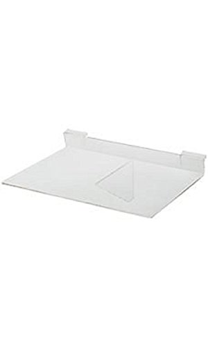 14 x 10 inch Clear Acrylic Shelf for Slatwall or Wire Grid by STORE001