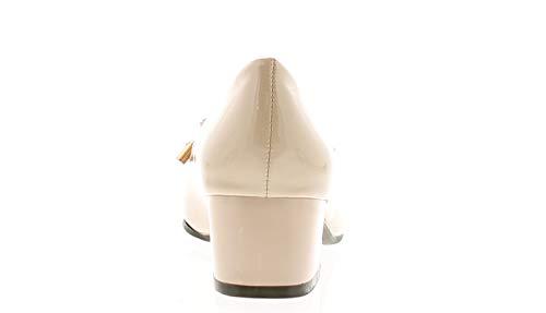 Mode Moyen Conçu Uni Surpiqûres Chaussures 40 Couleur et Vamp Elégant Chair Cour Nœud à Confort Motif la Un Femmes avec Qui Talon E Chaussure Détail à Fitting Est YxqUXpwSPt