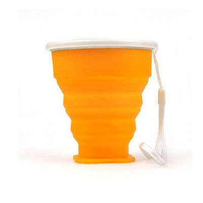 HURA Outdoor Tablewares - Outdoor Portable Folding Water Cup Multi Function Creative Water Cup Silica Gel Folding Silicone Folding Cup 1 PCs