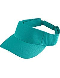 Augusta Activewear Sport Twill Visor-Youth, Teal, One Size