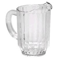Royal Industries 12 Pitchers Set, Plastic, 60 Oz, Clear ()