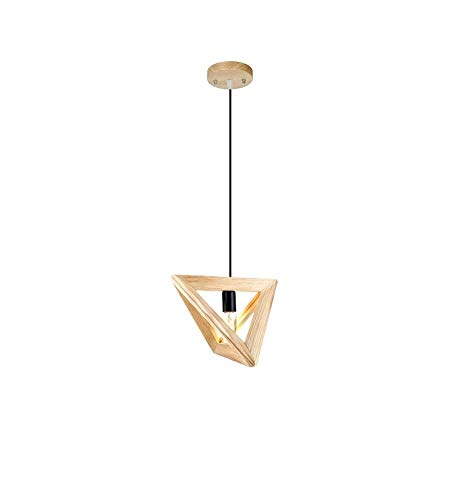 FNCUR European Style Lantern Cafe Triangle Tube Chandelier Light Stove Retro Burning People Personality Bright Restaurant Led Burner Creative Sunlight Solid Wood American Valve Bedroom Chandelier (Stove Retro Wood Burning)