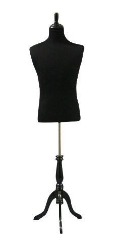 Black Male Mannequin Dress Form Size Large 40u0026quot;34u0026quot;40u0026quot; On  Adjustable Black