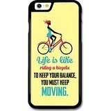a Bicycle Albert Einstein Life & Love Inspirational Quote case for iPhone 6 6S ()