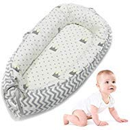 New Baby Lounger, leegoal Portable Super Soft and Breathable Newborn Infant Bassinet,Water Resistant...
