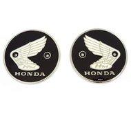 Genuine Honda - Left & Right Tank Emblems - 87020-070-010 - Compatible with Honda CA200 CL90 S90 CB92 CA95 CB160 - Honda Wing Emblem