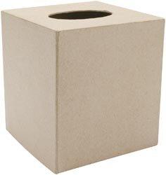 Darice Bulk Buy Core'dinations Paper Mache Box 5 inch x 5 inch Tissue (6-Pack)