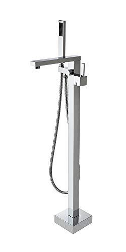 JiaYouJia Freestanding Tub Filler Floor Standing Bathtub Faucet (Chrome)