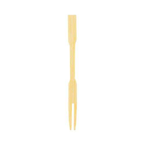 3.5-inch Mini Bamboo Appetizer Cocktail Fork: Perfect for Catered Events, Asian Restaurants, and Buffets - Picks for Hors d'Oeuvres, Meatballs, and Fruit - 1000-CT - Compostable and Eco-Friendly