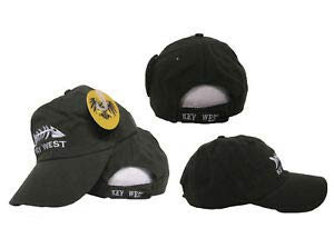 - JumpingLight Embroidered Olive Key West Conch Republic Bone Fish Washed Sytle Cap Hat RUF for Home, Official Party, All Weather Indoors Outdoors