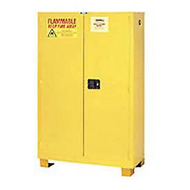 Flammable Cabinet Fs45, With Legs, Self Close Double Door 45 Gallon, 43