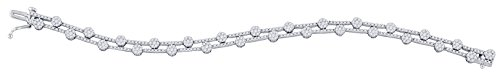 2 3/4 Total Carat Weight DIAMOND LADIES FLOWER BRACELET by Jawa Fashion