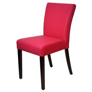 low back leather dining chairs contemporary r3260 pink leather dining room chair in low back amazoncom chairs