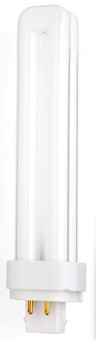Satco S8339 3500K 26-Watt G24q-3 Base T4 Quad 4-Pin Tube for Electronic and Dimming Ballasts