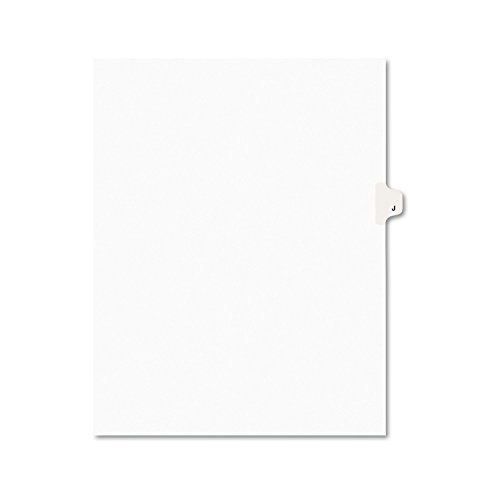 Avery Legal Dividers, Premium Individual Tab Titles, Letter Size, Side Tabs, J, Pack of 25 - Title Letters