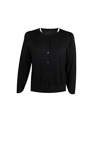 (Polo Ralph Lauren Womens Pima Cotton Crew Neck Cardigan (Large, Black))