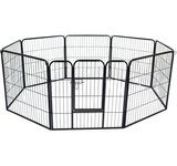 Pawhut 32″ 8 Panel Heavy Duty Pet Dog Portable Exercise Playpen For Sale