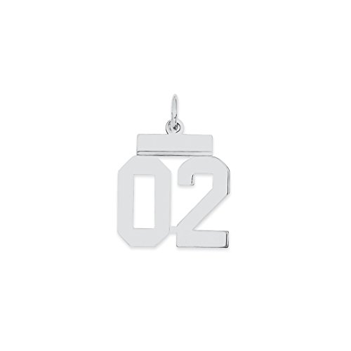 925 sterling silver small number 02 top