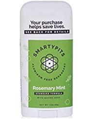 (Handcrafted HoneyBee SmartyPits Standard Formula Deodorant | Rosemary Mint)