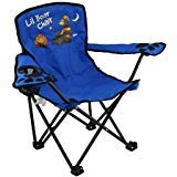 Kids Folding Camp Chair, Ages 2-6, Camping Bear (Color Varies)