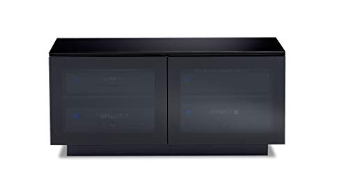 BDI 8224 Mirage Double-Wide Media and TV Cabinet, Black Bdi Modern Tv Stand