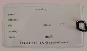 Luggage Tag - You Won't Look Good in My Clothes- Inventive Travelware (Fuchsia/Black)