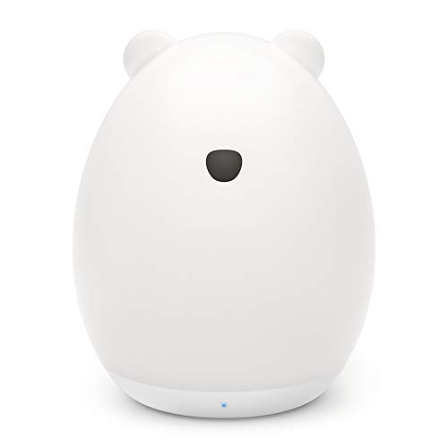 VAVA ナイトライト ベッドサイドランプ 可愛いくま型 【タッチコントロール 授乳用 七色変換 USB充電 子供安全素材】 テーブルランプ プレゼント